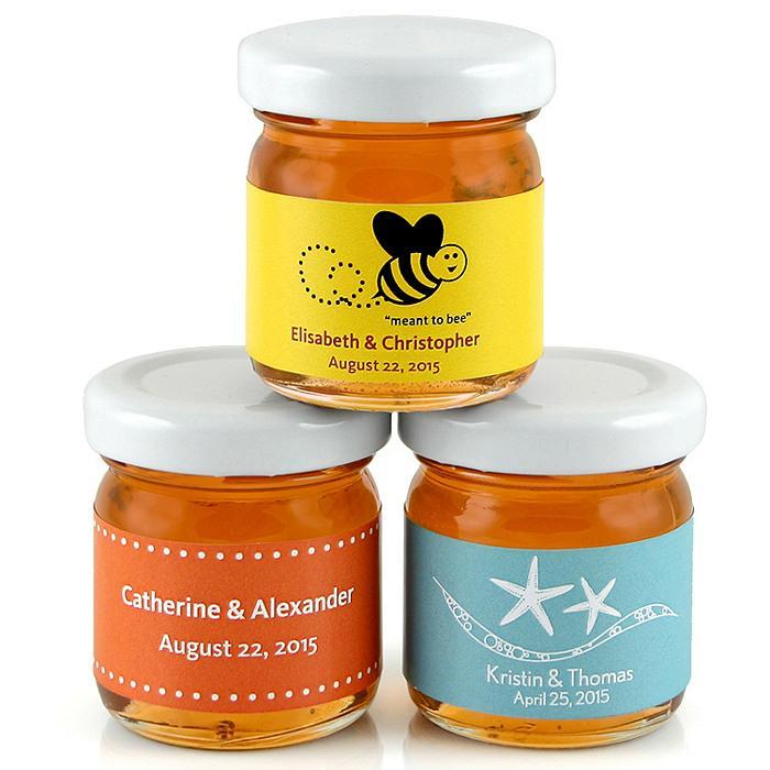 Mason Jar Personalized Honey Jar Favor 1182032 Weddbook