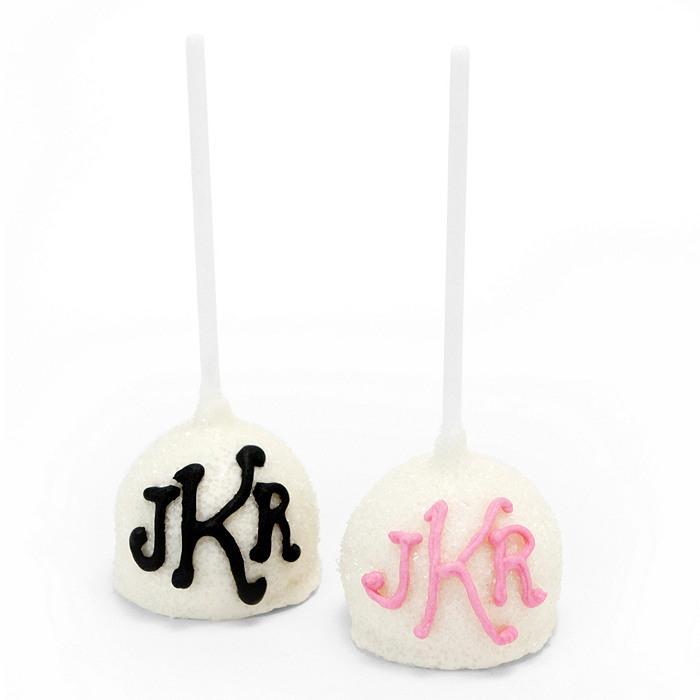 Wedding - Monogram Cake Pop Favor