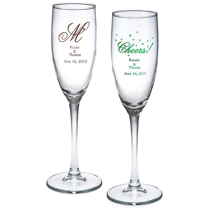 wedding gifts personalized champagne flute 1182044. Black Bedroom Furniture Sets. Home Design Ideas