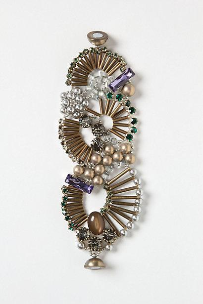 Wedding - Fanned Beads Bracelet - B