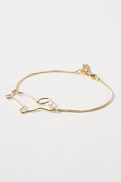 Wedding - Dackel Silhouette Bracelet - B