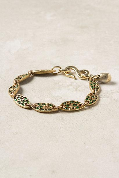 Wedding - Embedded Earth Bracelet - B