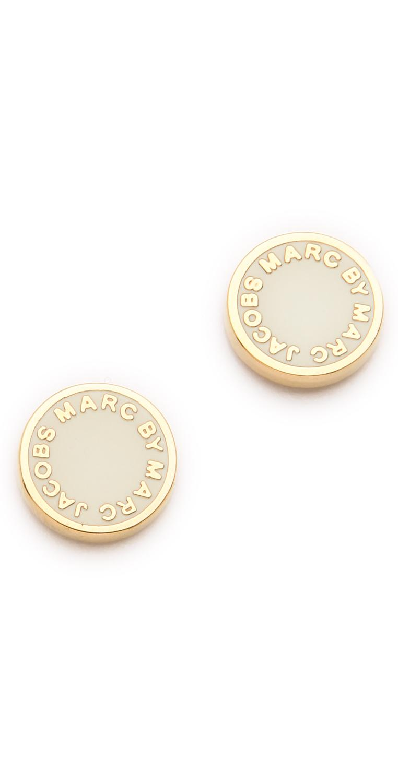Wedding - Logo Disc Stud Earrings