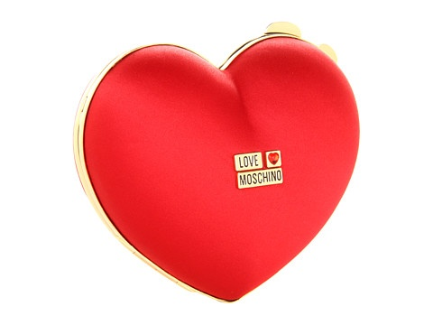 Mariage - Sacs de Noël ou de la Saint-Valentin Jour Soir ♥ Love Moschino Red Heart Wedding Box Clutch