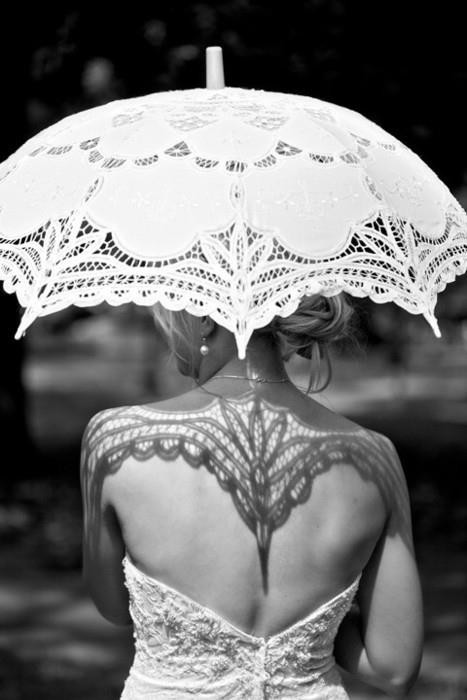 Hochzeit - Lace and Shadow ♥ Battenburg Lace Bridal Parasol Umbrella