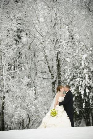 Свадьба - Романтическая Рождественская Свадебной Фотографии ♥ Снежная Зима Свадьбы