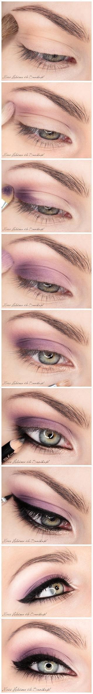 Mariage - Violet Smokey Tutoriel Maquillage des yeux Maquillage ♥ Meilleure nuptiale