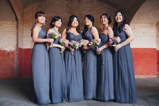 Bridesmaids Bridesmaid 1828385 Weddbook Blue Gray Dresses Good