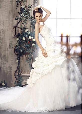 Robe de mariage en satin organza et satin romantique jupe for Robe de mariage et jupe