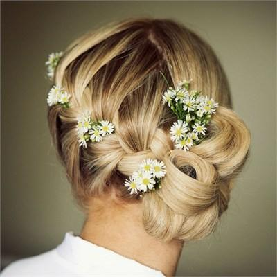 Unique Wedding Braided Side Updo Hairstyle 1907014