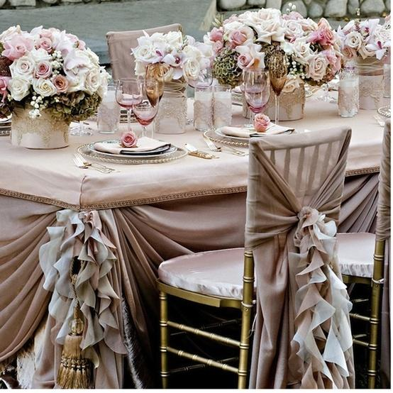 Wholesale Chiavari Chairs For Sale Pale Pink Ruffled Wedding Table Design ♥ Dream Wedding Decorations ...