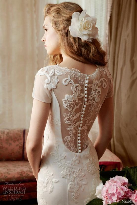 Miamia alan hannah spring bridal collection gorgeous for Lace button back wedding dress