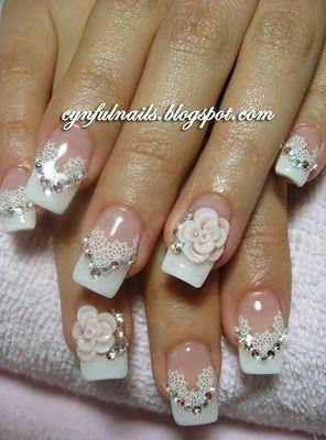 Innovative Nail Paint Style For Wedding