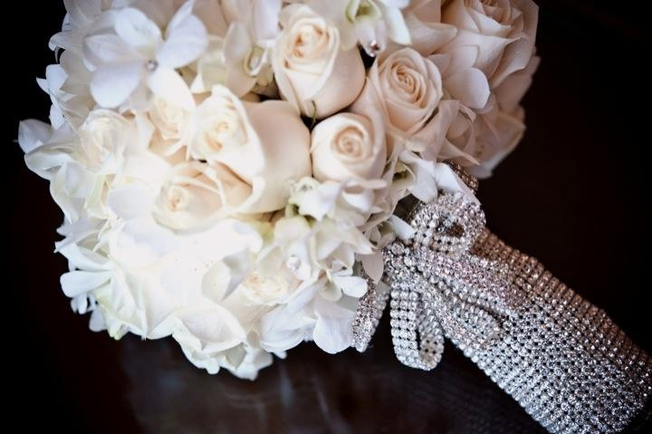 Bridal Flowers With Bling : Bouquet flower bling weddbook