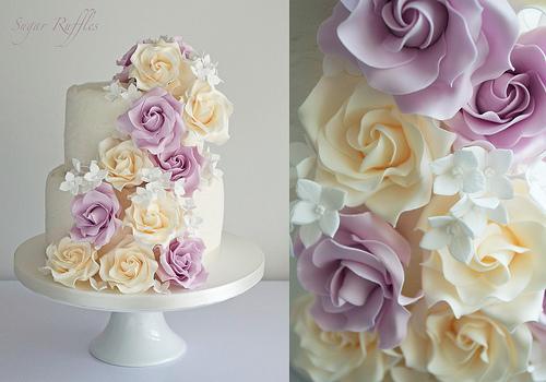 Свадьба - Каскадные розы и гортензии