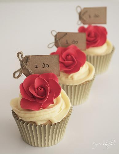 Свадьба - Красная роза Кексы