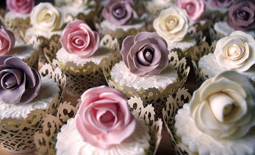 Rose Hochzeit Vintage Rose Cupcakes 1987696 Weddbook