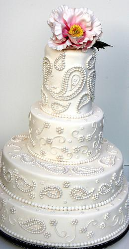 Wedding - Paisley Pearl Cake Inspired By A Sari Design