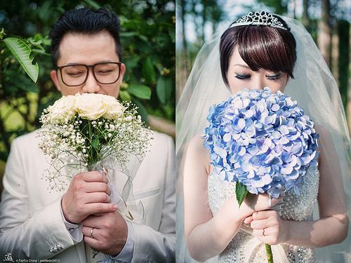 Hochzeit - [Hochzeits-] Braut und Bräutigam