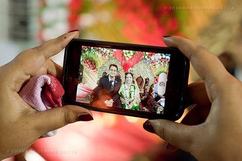 Hochzeit - Lächeln für die Kamera ....