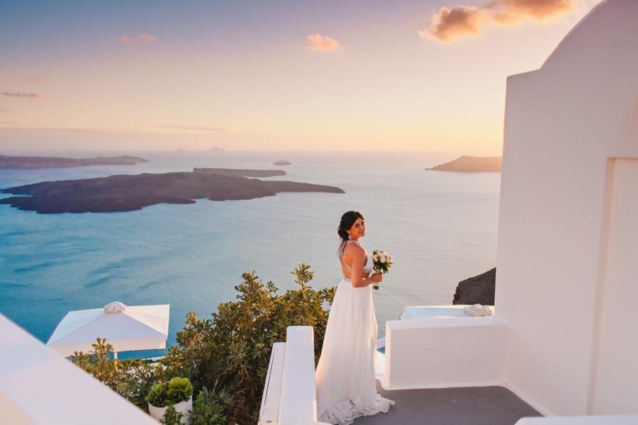 Свадьба - Прекрасный Закат на Санторини