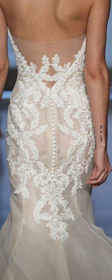 Wedding - Mermaid style white wedding dress