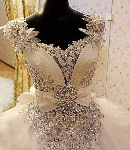 dress ivory wedding dress carved with crystals 2007956