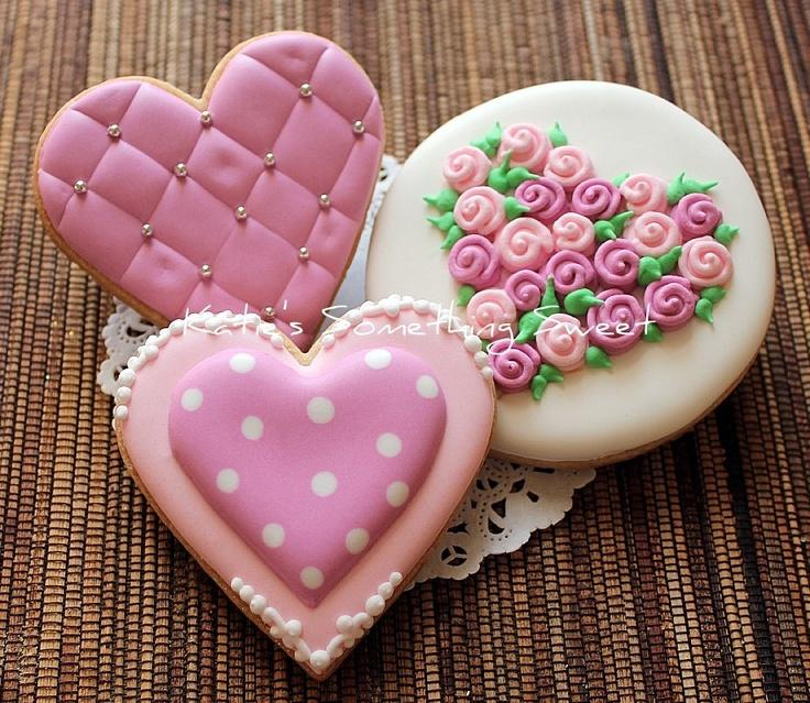 Elegant Cookie Decorating Ideas   Wedding, Love, Valentines, Etc.