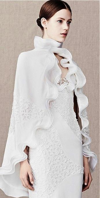 Wedding - Alexander McQueen Bridal Cloak