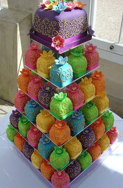 Cake Images To Colour : Wedding Cakes - Multi Color Cake ~ Love, Love This ...