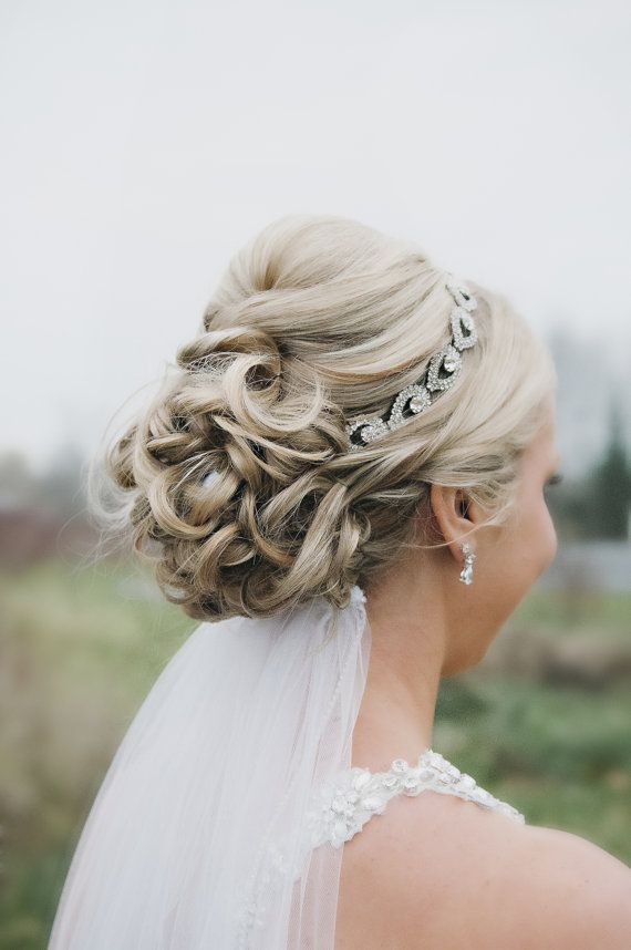 Hochzeit - Wedding Headpiece, Headband, ELSIE, Rhinestone Headband, Wedding Headband, Bridal Headband, Bridal Headpiece, Rhinestone
