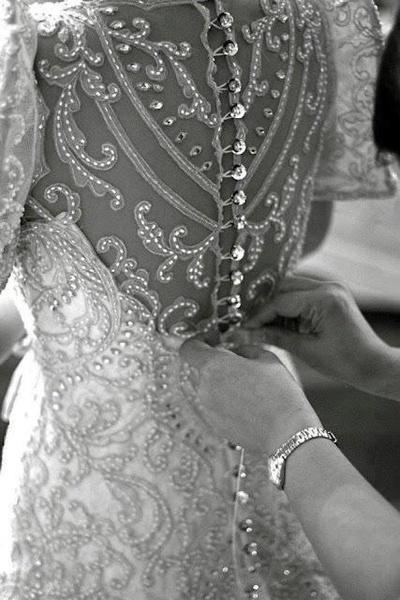 Wedding - Wedding dress with crystals and rhinestones