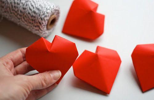 3d origami hearts