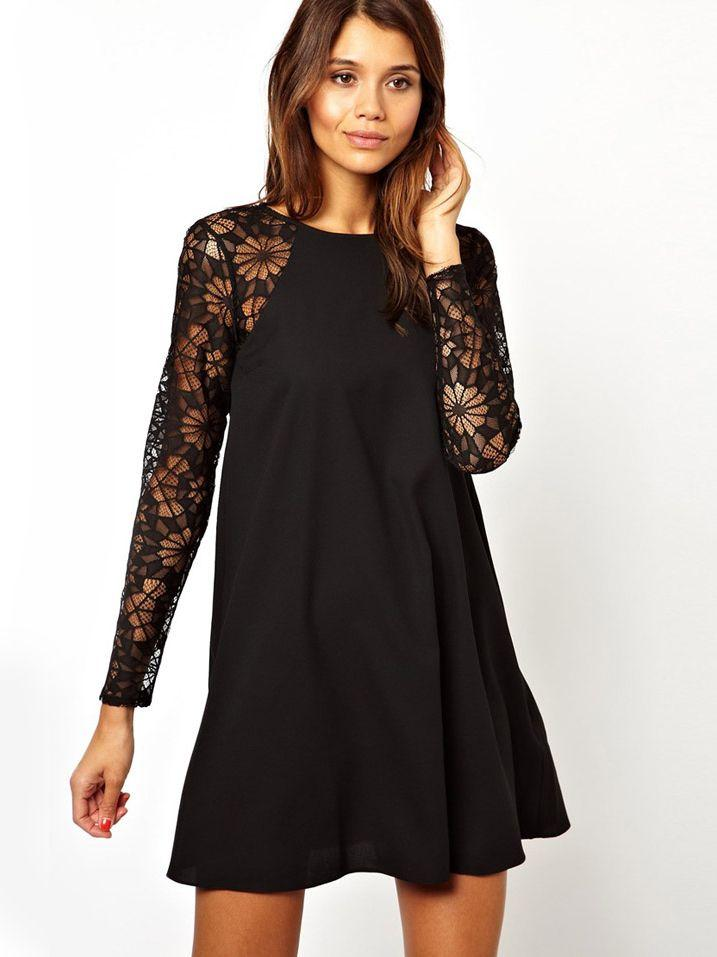 Sheinside dress long sleeve