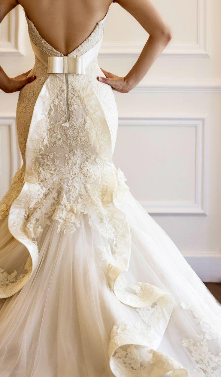 Mariage - Bridal French Lace Gown By Maison Yeya