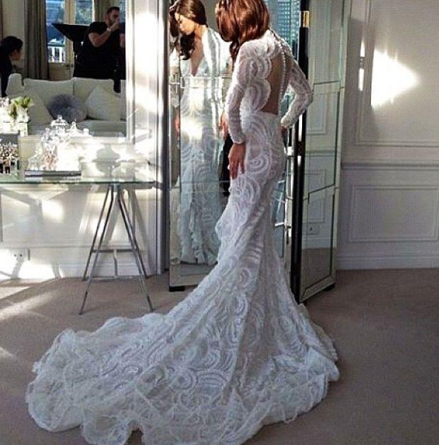 Elegant White Wedding Gown By Steven Khalil