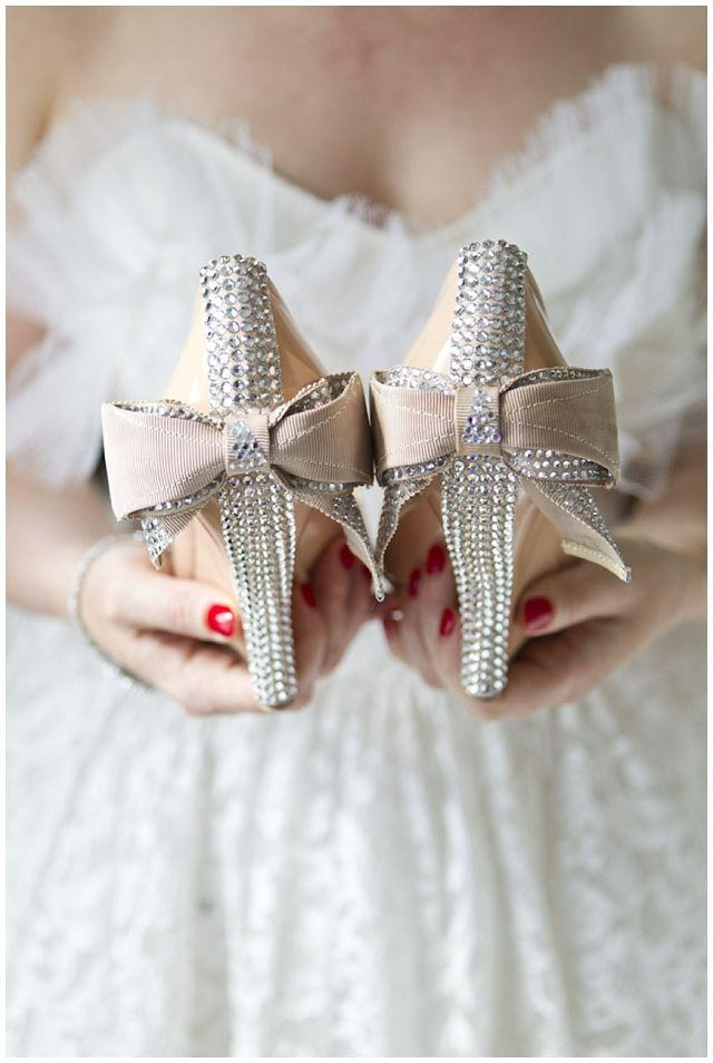 Wedding - Wedding shoes embellished with shining crystals