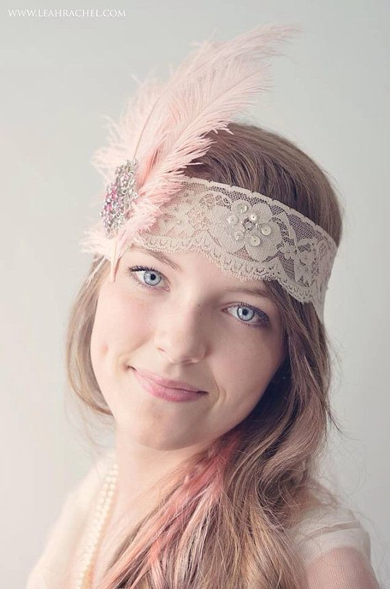Great Gatsby Style Headpiece, Beautiful Taupe Band With