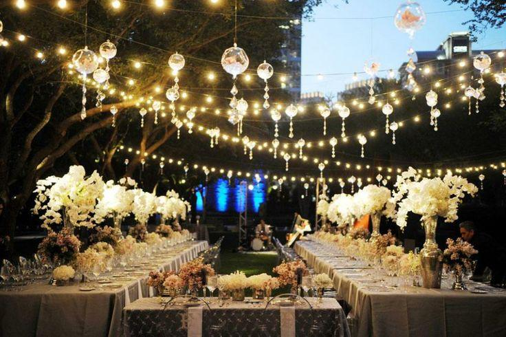 String Lights For Wedding : Outdoor Wedding - Photography Outdoor Lighting Equipment #2039758 - Weddbook