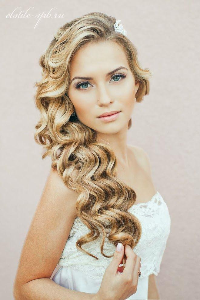 Свадьба - Естественная Свадебные Волнистая Прическа
