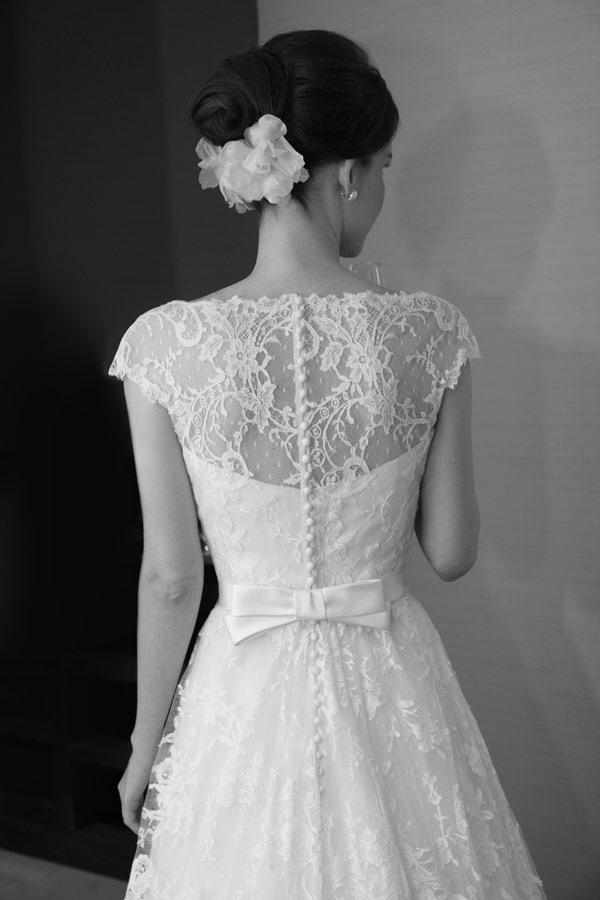 Wedding - Vintage style white wedding dress