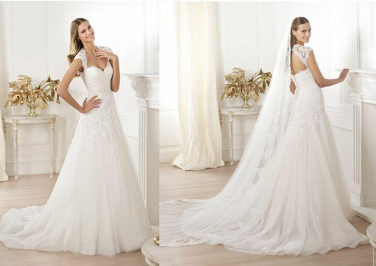A Line Wedding Gown With Sleeves: Cap Sleeves Sweetheart Bridal Wedding Gown Wedding Dress