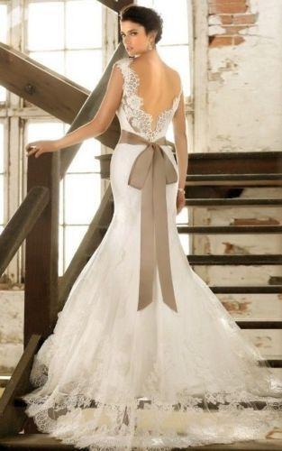 Wedding - New White/ivory Wedding Dress Custom Size 2-4-6-8-10-12-14-16-18-20-22