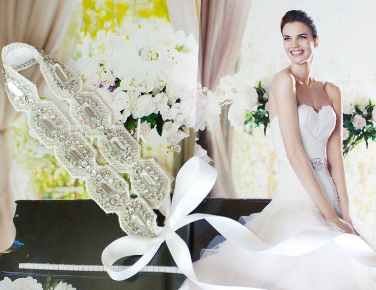 Свадьба - Свадебные Кружева Spangle Горный Хрусталь Лента Оголовья Головной Убор