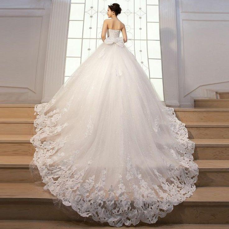 2014 new white ivory wedding dresses bridal gown size 2 4 for White or ivory wedding dress