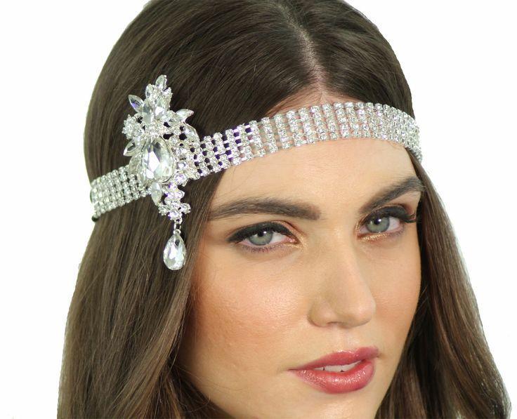 Hochzeit - 1920 Flapper Inspiriert Kristall Great Gatsby Braut Kopfstück Stirnband