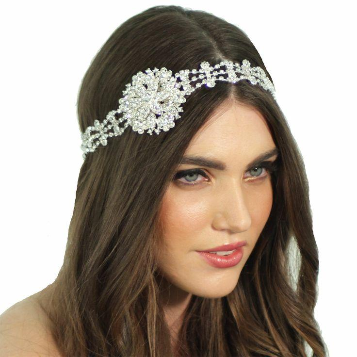 Mariage - Gatsby le Magnifique de 1920 Inspiré cristal Médaillon Tiara casque