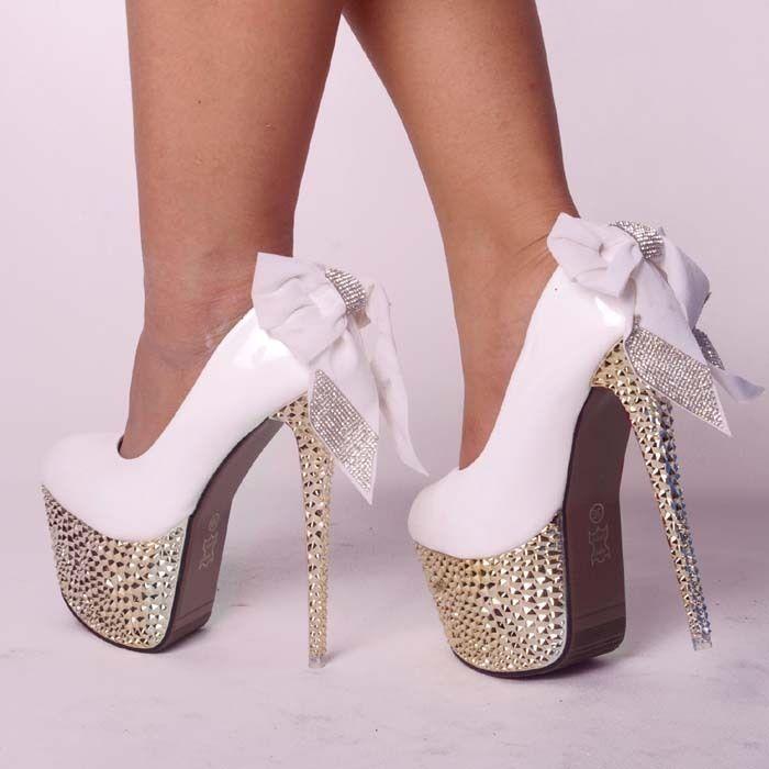 Diamond Studded Heel Shoes