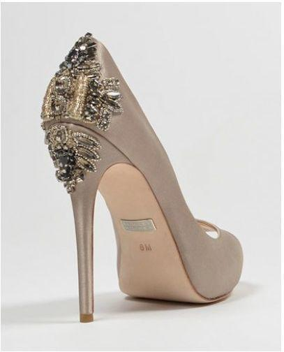 badgley mischka dree ii taupe high heels. Black Bedroom Furniture Sets. Home Design Ideas