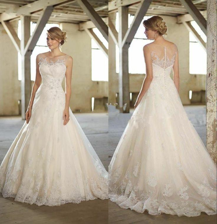 2014 new white ivory wedding dress custom size 2 4 6 8 10